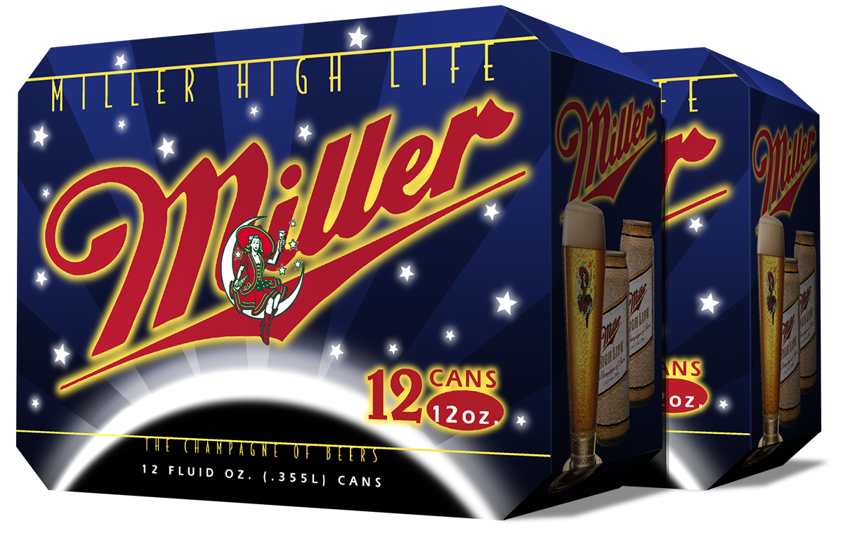 Miller High Life Package Design by Landis Productions