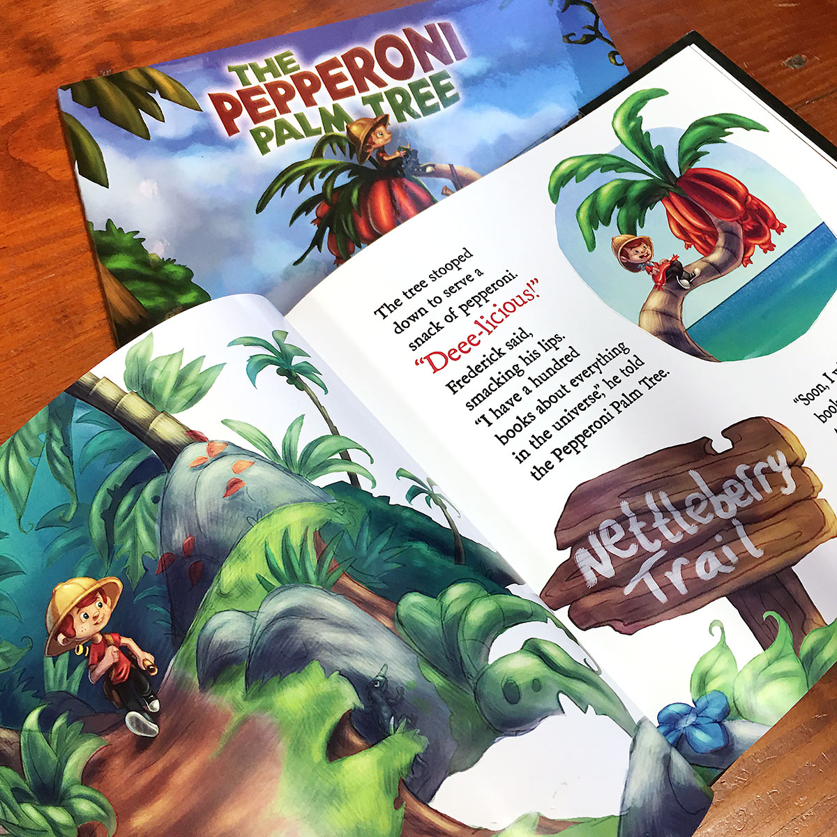 Pepperoni Palm Tree Book Layout by Landis Productions