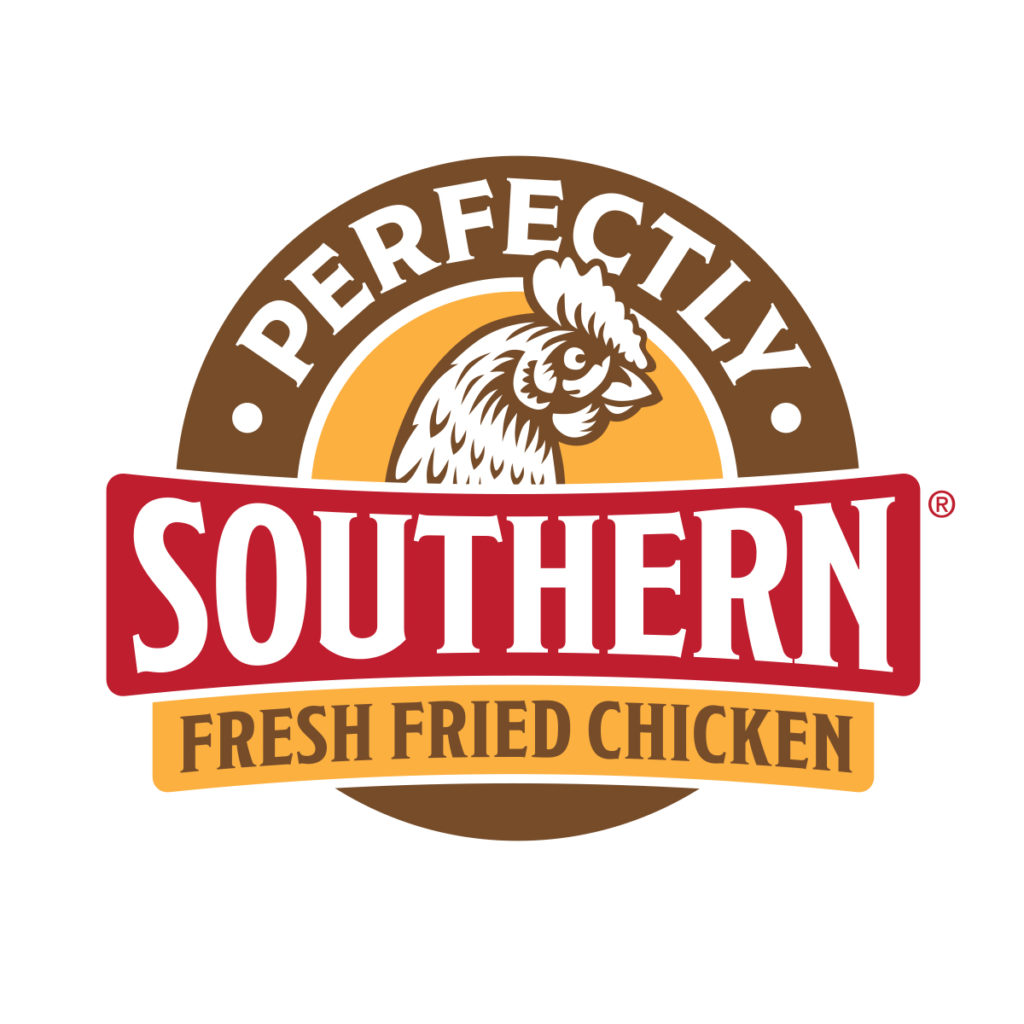 Perfectly Southern Fresh Fried Chicken Logo by Landis Productions