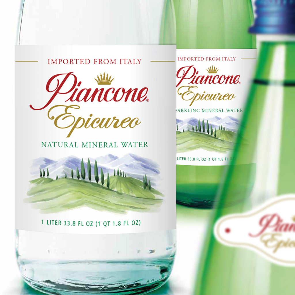 Piancone Epicureo Mineral Water Labels by Landis Productions