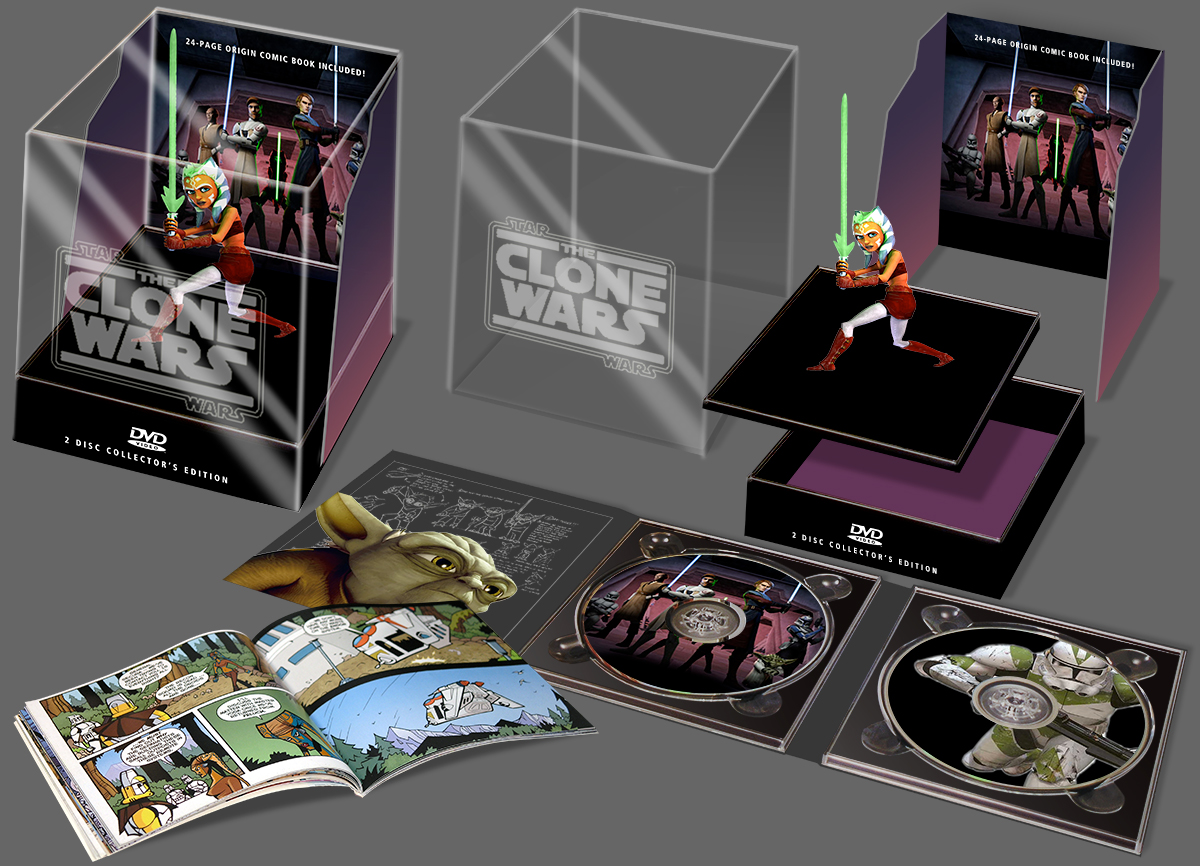 Star Wars Clone Wars DVD Package Design by Landis Productions