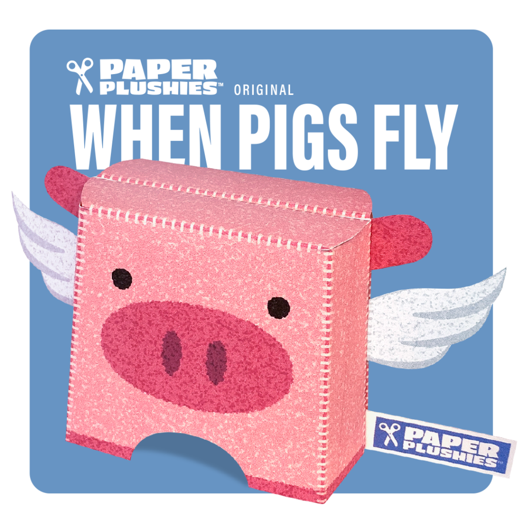 Paper Plushies When Pigs Fly Paper Craft by Landis Productions