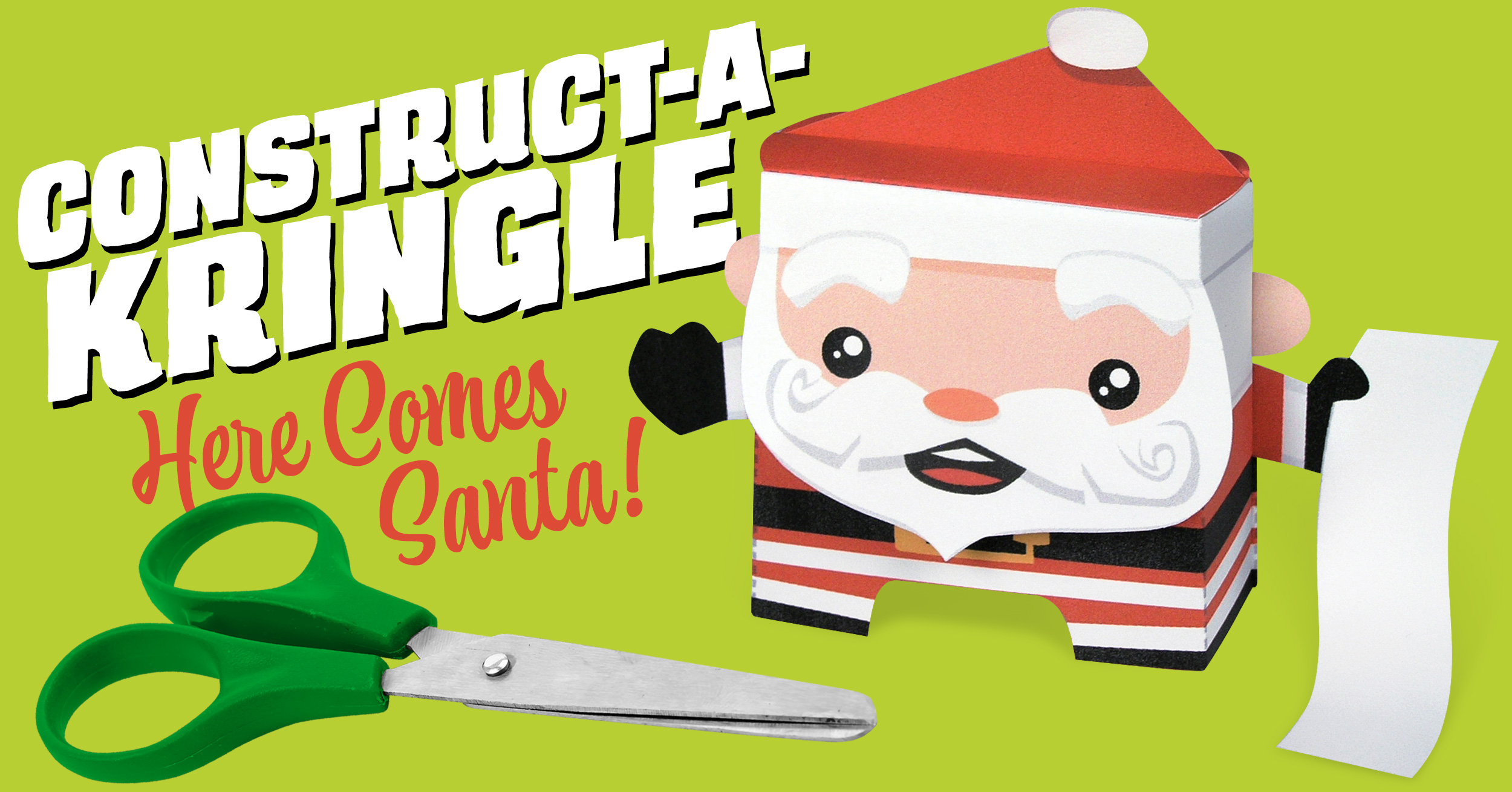 Construct-A-Kringle Santa Paper Craft by Kooky Craftables