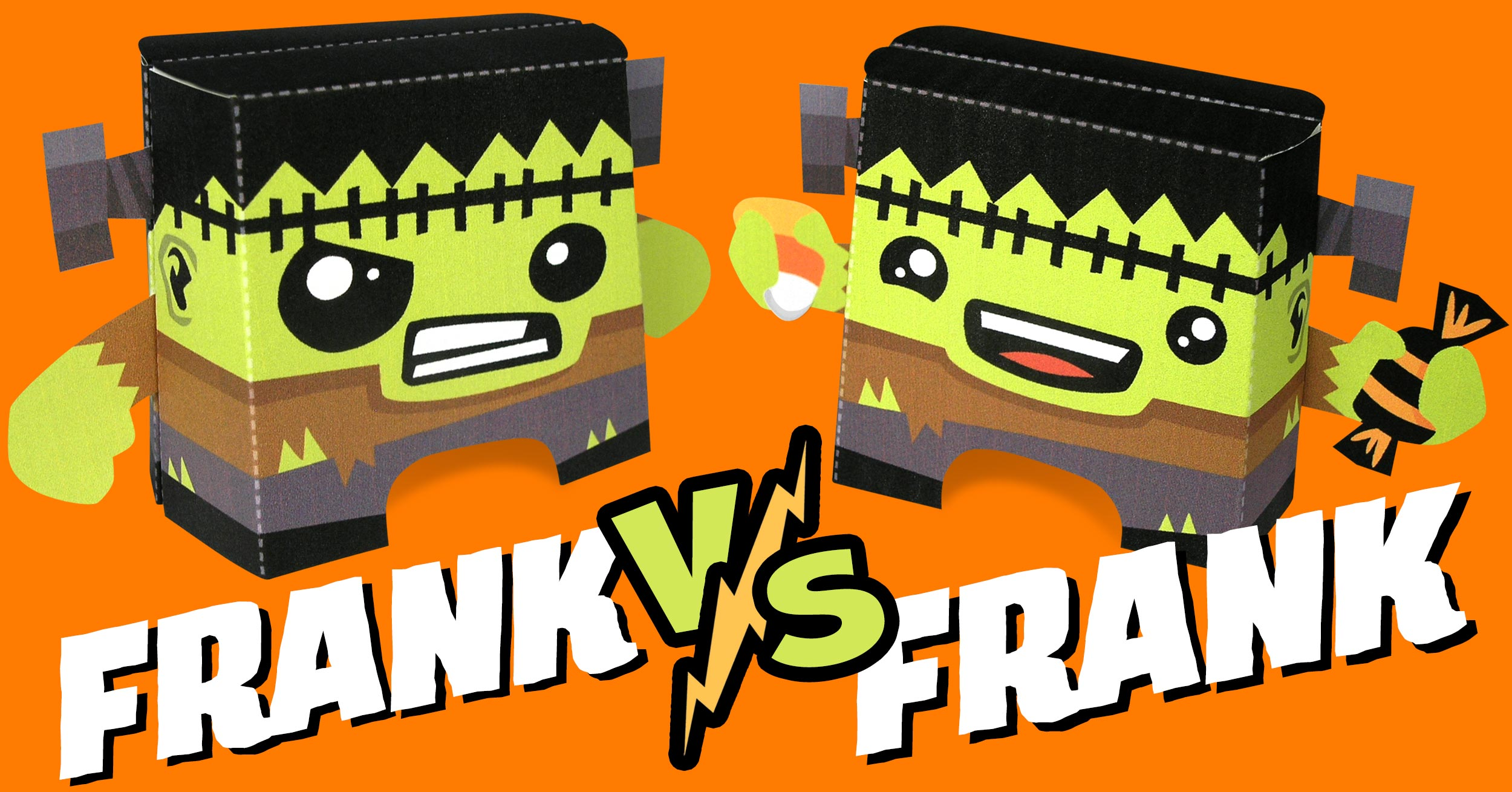 Frank vs Frank Paper Craft by Kooky Craftables