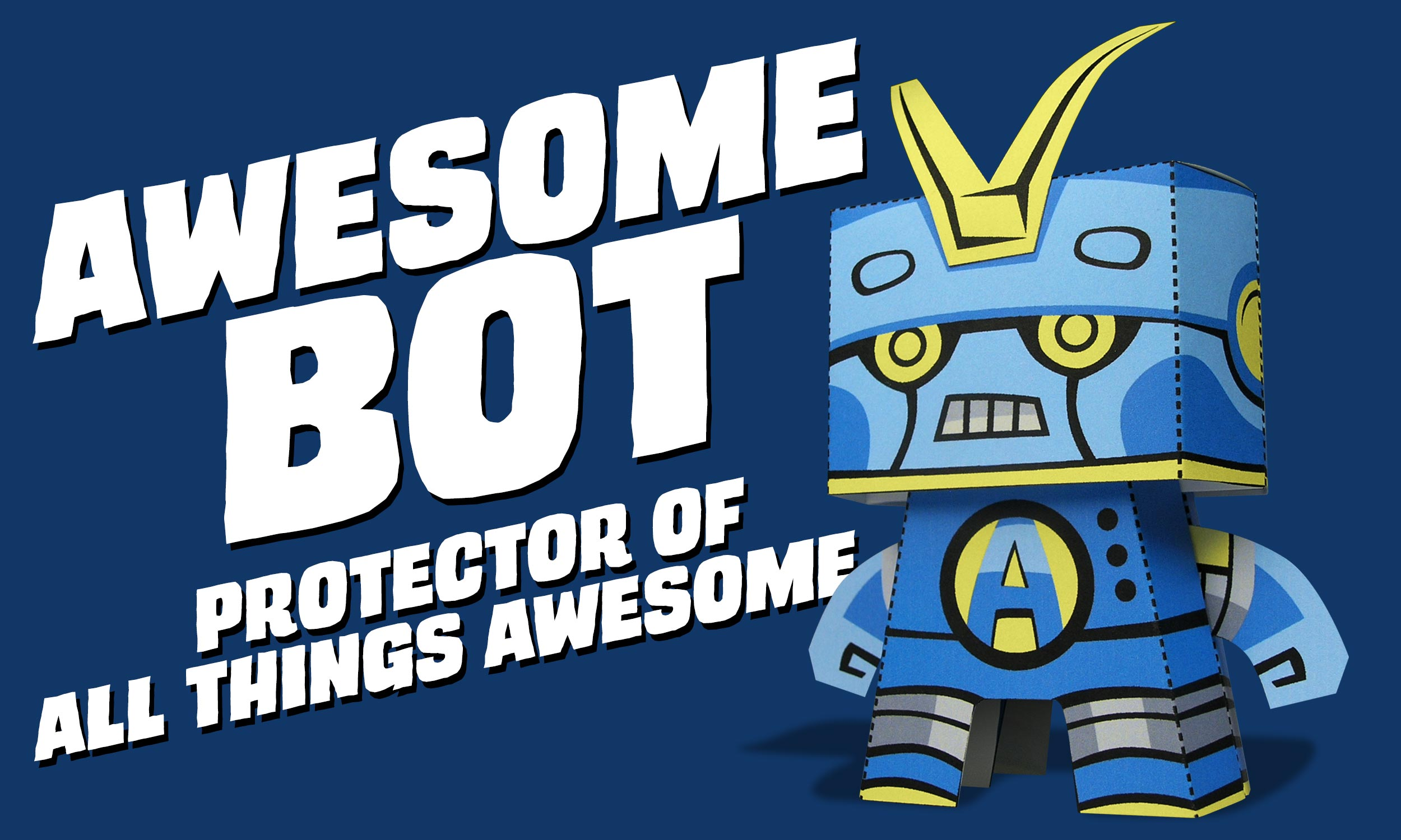 Awesome Bot Paper Craft By Kooky Craftables