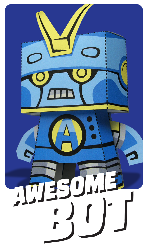 Kooky Craftables Awesome Bot Paper Craft